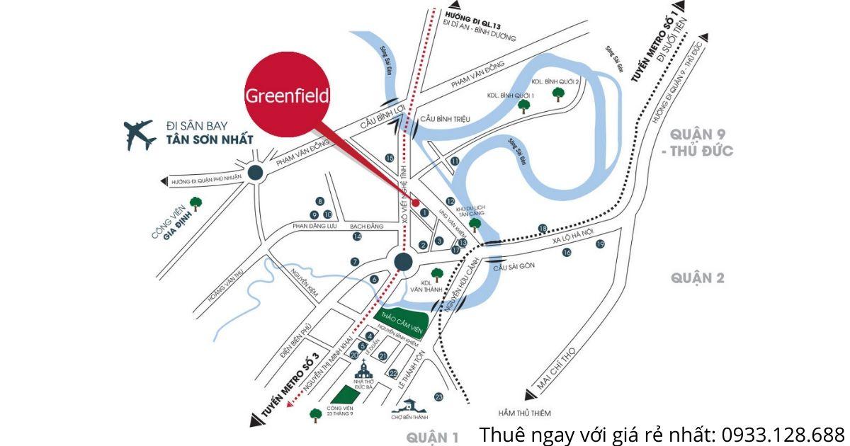 Vị trí chung cư Greenfield 686 Bình Thạnh