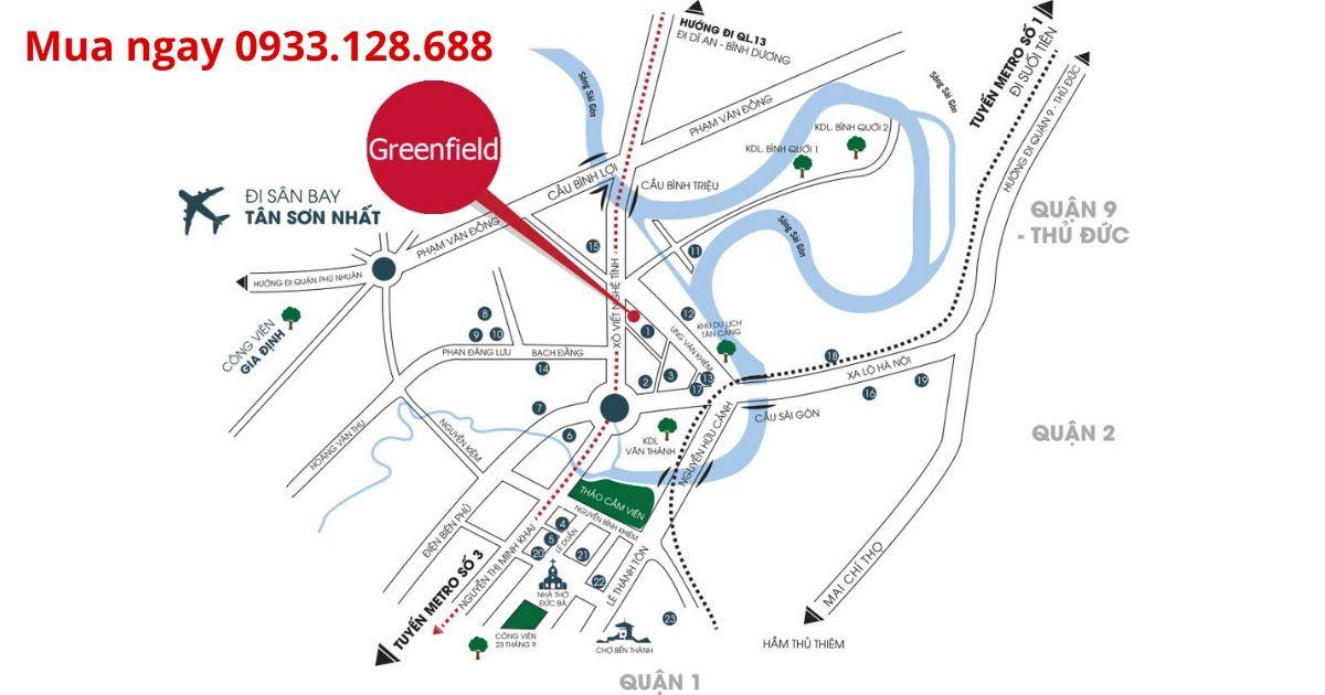 Cho thuê căn hộ Green Field 686 Bình Thạnh