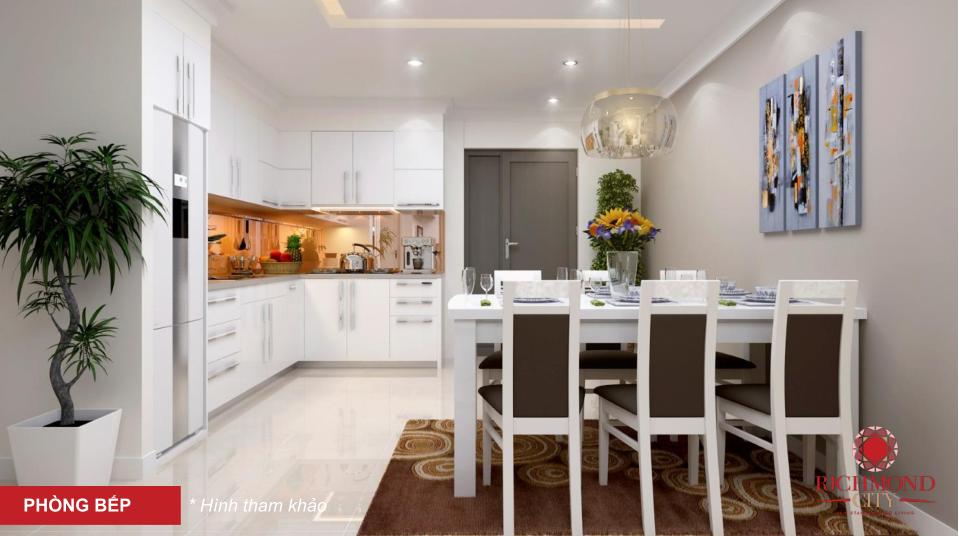 hình ảnh phòng bếp mẫu căn hộ cho thuê